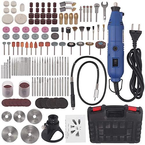 CAMWAY Multifunktionswerkzeug, 135W Drehwerkzeug mit 210 Zubehörteilen, 8000 bis 35000 RPM Mini-Bohrer, 6 Drehzahleinstellungen Werkzeug Set, ideal zum Gravieren, Schneiden, Polieren, Schleifen