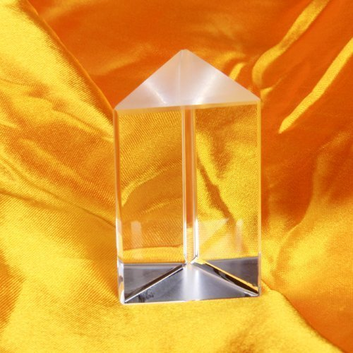 TYKusm Prisma aus optischem Glas, für Physik, für Lehrer, transparent