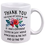 DQG CVT Best Sister-in-Law Mug - Thank You for Being My Sister In Law Coffee Mugs - Funny...