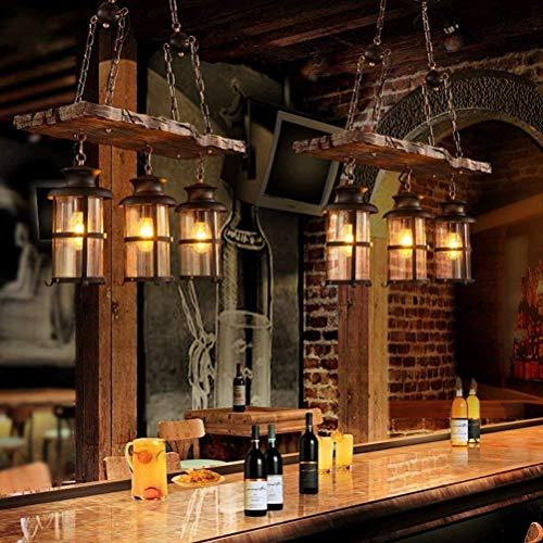 JU Gyy Home Hotel Verlichting Exquise kroonluchter Loft Retro Industrial Winds Houtkunst Creative Persoonlijkheid Koffie Restaurant Internet Cafés Bar Boot Hout Glas Lamp