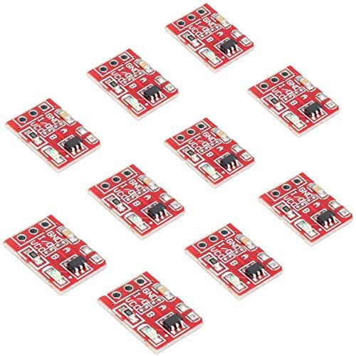 FEIYI Andere Modulplatine 10 Stück 2,5–5,5 V TTP223 Kapazitiver Touch-Switch Button Self Lock Modul für Arduino – Produkte, die mit offiziellen Arduino-Boards funktionieren.