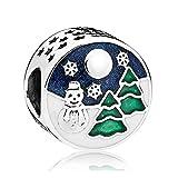 PANDOCCI 2017 Natale nevoso wonderland Beads Autentico 925 sterling silver fai da te adatto per originale pandora bracciali moda gioielli di fascino