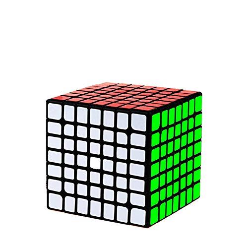 Ysss 7º Orden RubikCube Smooth Puzzle Juguetes para niños Adultos,Negro