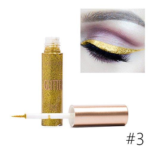 Shiny Heavy Metal Eyeliner Wasserdicht Flüssig Eyeliner Glitter Metallic Eyeliner