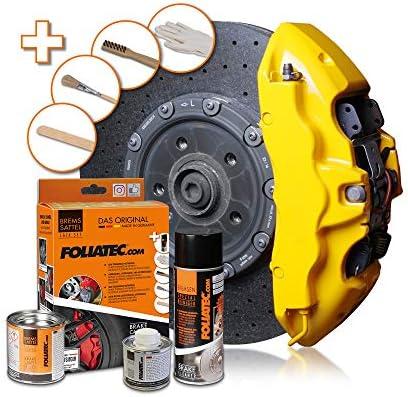 Foliatec 2161 Brake Calliper Paint Set, Speed Yellow