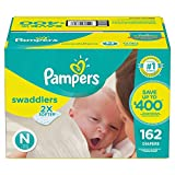 Pampers Swaddlers Diapers (Size N, 156 ct.)