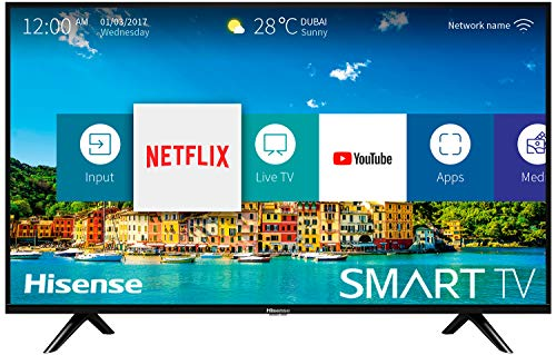 Hisense H40B5600, Smart TV Full HD, 2 HDMI, 2 USB, Salida Óptica y de Auriculares, WiFi N, Audio DBX, Procesador Quad Core,...