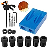 15 Degree Pocket Hole Screw Jig Dowel Drill Joinery Kit Positioner Locator Tool, Woodworking Angle Drilling...
