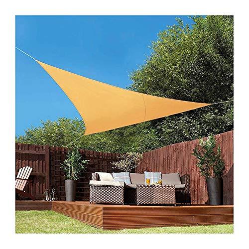 Triángulo Velas De Sombra, Sombrilla Carpa Toldo, HDPE Hidrófugo Corte UV 95% Anillo En D De Acero Inoxidable con Cuerda Libre para La Playa Terraza, Jardín, Cochera (Color : Beige, Size : 5x5x5m)