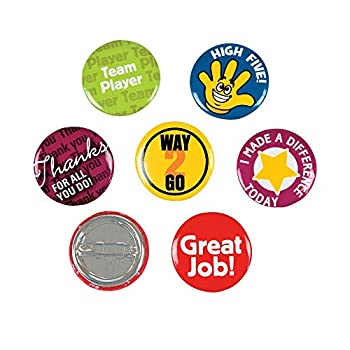 Fun Express Recognition Mini Buttons  48 Pieces