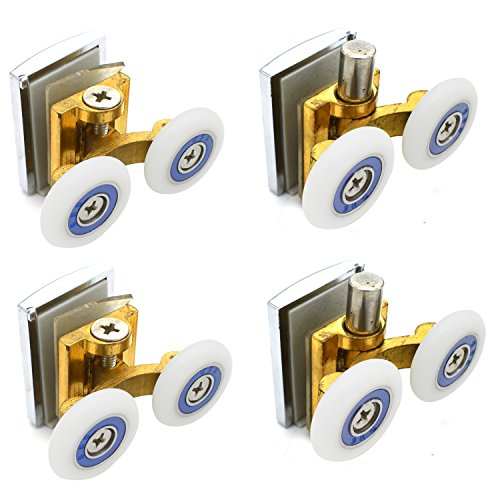 Ducha puerta rodillos corredores ruedas poleas 25mm diámetro rueda parte superior inferior baño piezas de repuesto