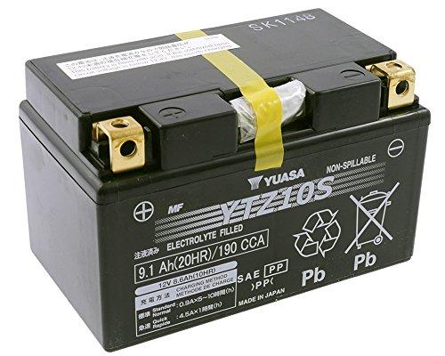 YUASA YTZ 10 S onderhoudsvrij (AGM) Prijs incl. wettelijke garantie op batterijen € 7,50 incl. BTW