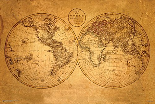 Old World Map 24x36 Poster