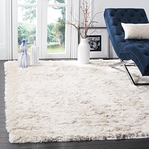Safavieh Paris Shag Collection SG511-1212 Ivory Polyester Area Rug (10' x 14')