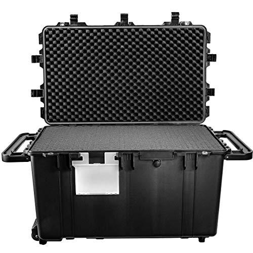 "Eylar XXXL 32"" Transport Roller Gear, Camera, Tools, Equipment Hard Case Waterproof w/Foam Black"