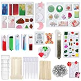 148 Pieces Resin Silicone Casting Molds and Tools Set for DIY Jewelry Decoration Craft Making Meganeopre