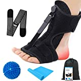 Upgraded 2020 Night Splint for Plantar Fascitis Foot Drop Orthotic Brace, Breathable Sleep Support Pain Relief for Plantar Fasciitis, Heel, Arch Foot, Achilles Tendonitis for Women, Men