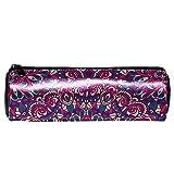 Oriental Hippie Mandala patrón lápiz estuche de papelería bolsa de almacenamiento organizador bolsa de cosméticos para la escuela, adolescentes, niñas, niños, hombres y mujeres