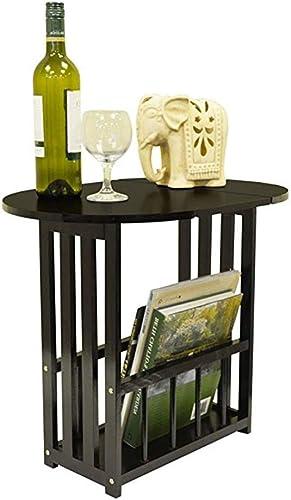NAN Table de Chevet Table de Chevet Mobile et pivotante avec Support de Rangement (Couleur   Noir)
