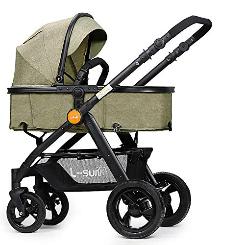 Review Baby Stroller is Suitable for Newborns, High Landscape Can Sit Reclining Four Seasons Folding...