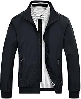 Men¡¯s Jackets with Pockets Soft Long Sleeve Full Zip Coat for Spring Outdoor