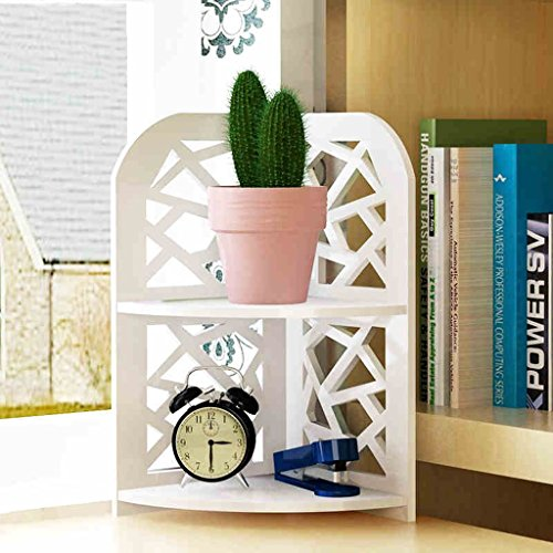 LT Storage Tower Desktop Shelf Schreibtisch Storage Unit Student Combination Bücherregal Schublade Haushalt (weiß, 2 Layer)