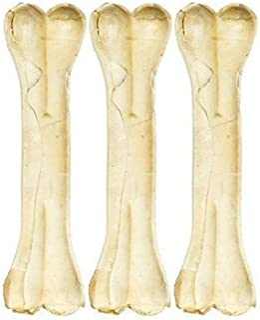 MS Pet House Pressed Dog Bone 6 inches (Medium) - Pack of 3 Bones. Dog Chew Treat