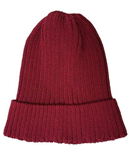 ドリームウォーク 帽子 ニット帽 シンプル (フリーサイズ エンジ) 小さめ