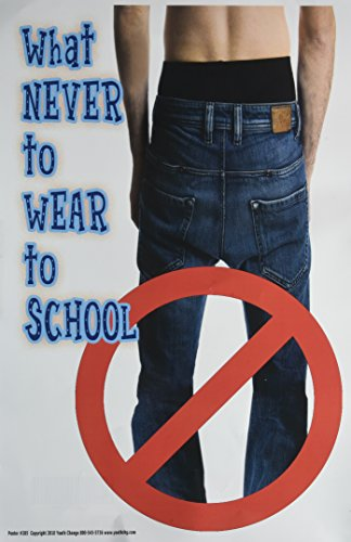Poster #205 Posters Stop Problems with Students' Clothing, Series of School Dress Code Posters