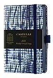 Castelli Milano SHIBORI Jute Diary 2021 9x14 cm Settimanale Copertina Rigida 160 Pag