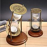 Qingsb Reloj de Arena Reloj de Arena 15 Minutos 30 Minutos Marco de Madera Reloj de Arena Giratorio Escritorio para el hogar Decoración, 15 Minutos