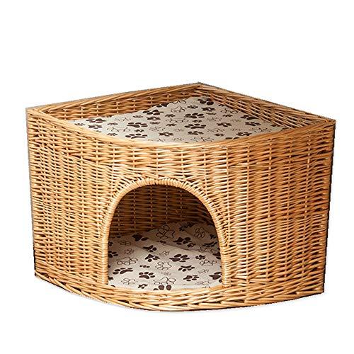 QWERTY Donut hundebett Katzenhöhle/Katzenkorb/Katzenbett Aus Weide Zwei Kissen. EIN Katzenturm Für Ihre Katze Zum Ruhen Und Spielen.