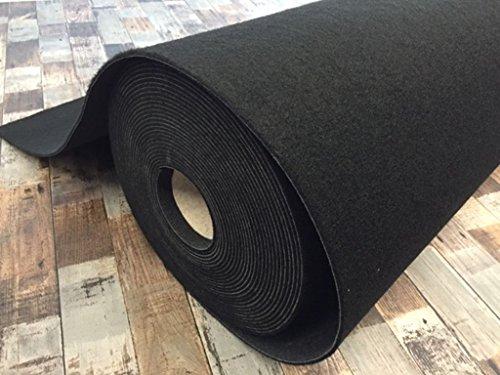 Autoteppich zur Auskleidung, Meterware in beliebiger Größe - Qualität Classic schwarz (1m x 2m Breite)