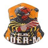 Bufanda de microfibra para el cuello, sin costuras, térmica Marv-El's SPI-Der-Man, bandana para la cabeza, para deportes al aire libre, color negro