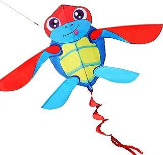 HENGDA KITE for Kids So Cute Cartoon Turtle Kite Single Line Kite Flying for Children Kids Outdoor Toys Beach Park Playing