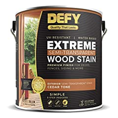 WATER-BASED SEMI-TRANSPARENT WOOD STAIN – This environmentally friendly, water based deck stain allows the wood grain to show through with a beautiful semi-transparent, natural matte finish. It's great for staining wood decks, fences, siding, playset...