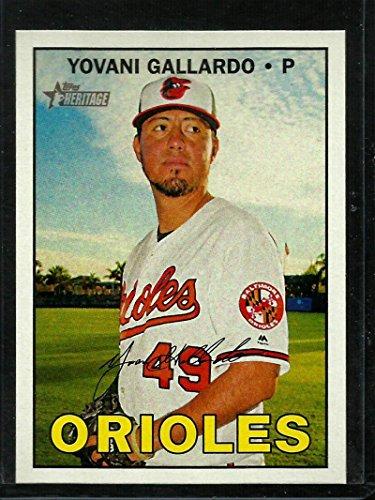 2016 Heritage High Number #611 Yovani Gallardo NM-MT Orioles