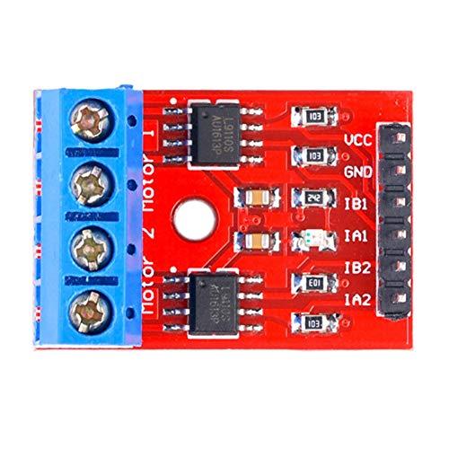 Libertroy Tablero de transmisión del Motor de Dos vías Puente H Compatible con el módulo de transmisión del Motor del Tablero de transmisión del Motor Paso a Paso L9110 - Rojo