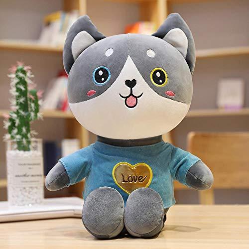 30/70 cm Hug Husky Plush Toy Cat Two Puppies Doll Cloth Doll...