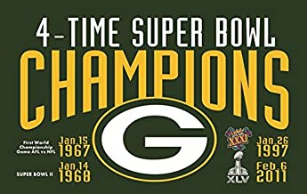 green bay packers super bowl flag