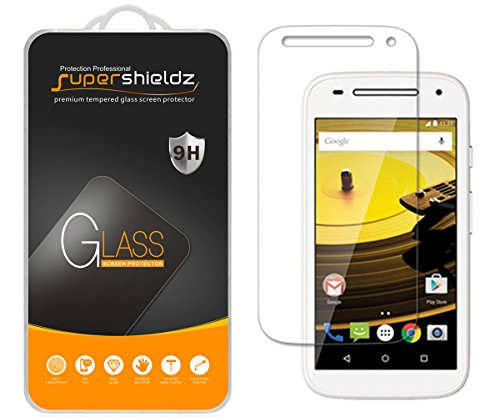 Supershieldz (2 Pack) for Motorola Moto E (2nd Generation) Tempered Glass Screen Protector, Anti Scratch, Bubble Free