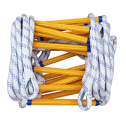 GEREP Escalera de Cuerda de Seguridad Resistente a las Llamas Escalera de Cuerda de Emergencia Contra Incendios/Rope diameter: 20mm / 25m/82ft