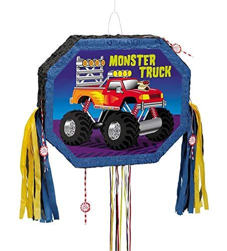 Pinata für Jungen, Geburtstagsparty (Monster-Truck/Bau/Fußball/Gitarre)