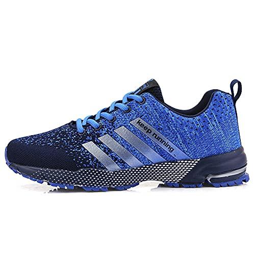 Aerlan Gym Shoes Lightweight Shoes,Zapatillas de Deporte al Aire Libre, Hombres, Mujeres, Pares de Zapatillas para Correr Transpirables-Blue_42,Botas de montaña Deportivas