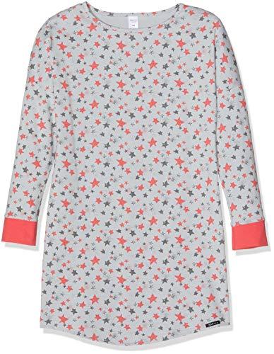 Skiny Mädchen Wonderland Sleep Girls Sleepshirt Langarm Nachthemd, Mehrfarbig (Grey Stars 6619), 152