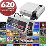 fukjem Classic Mini Game Console Classic Game Console Built-in 620 Game Video Game Console, AV Output, 8-bit Control Handles, Bring You Happy Childhood Memories