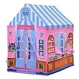 HOMCOM Kinderspielhaus Spielzelt Bonbonhaus Tür und Verkaufsfenster 3 Jahre Rollenspiel Polyester 93 x 69 x 103 cm