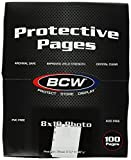 BCW Supplies 1-PROPHOTO-100 Pro 8 X10 Photo Page (100 Count Box)