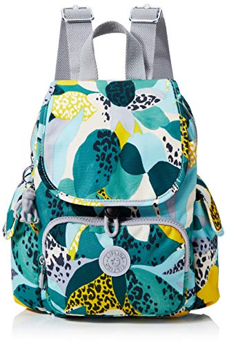 Kipling Damen City Pack Mini Rucksack, Mehrfarbig (Urban Jungle), 27x29x14 Centimeters