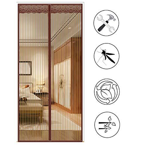 HTDG Magnetisch vliegengaas voor deuren van magneten, muggennet, verstelbaar, muggennet, magnetische ingang, magnetische insectenbescherming, standaard
